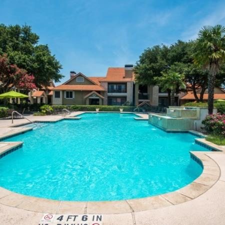 Apartment community pool   Madison at Scofield Farms in Austin