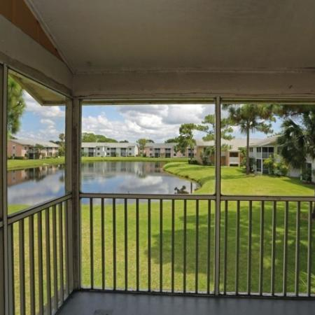 Jupiter apartment with screened porch