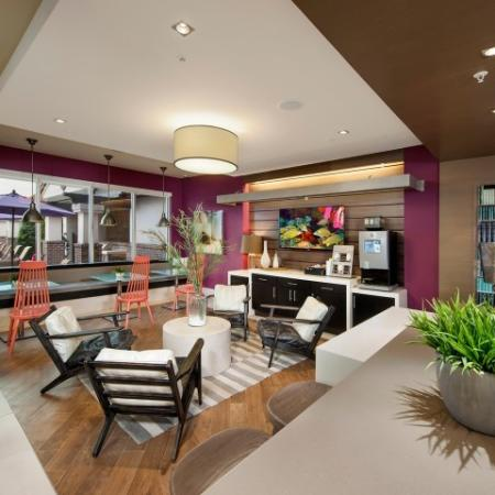 Clubhouse lounge | Rialto apartments in Orlando
