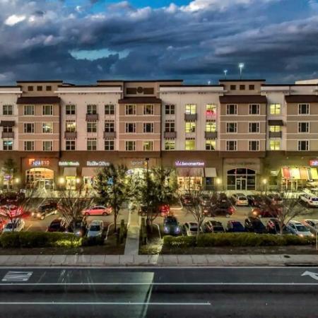 Nighttime exterior | The Rialto in Orlando