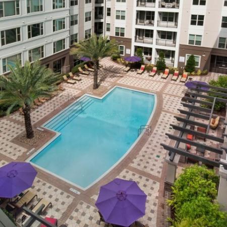 Aerial view of the pool | Rialto | Orlando FL