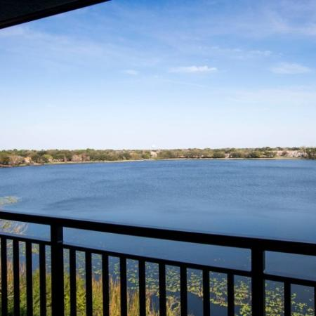 Apartment balcony with water view | Rialto apartments