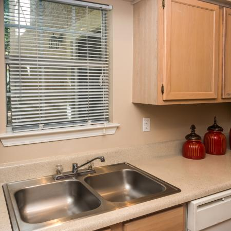 Kitchen with dishwasher | Madison at Wells Branch