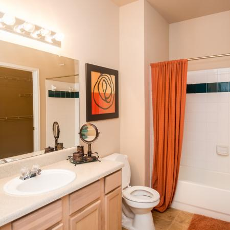master bathroom | Madison at Wells Branch apartments