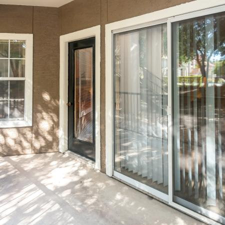 Private patio and balcony | Madison at Wells Branch apartments