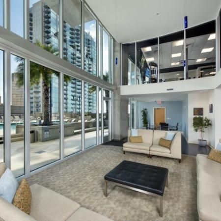 Resident lounge in Tampa apartments | Element