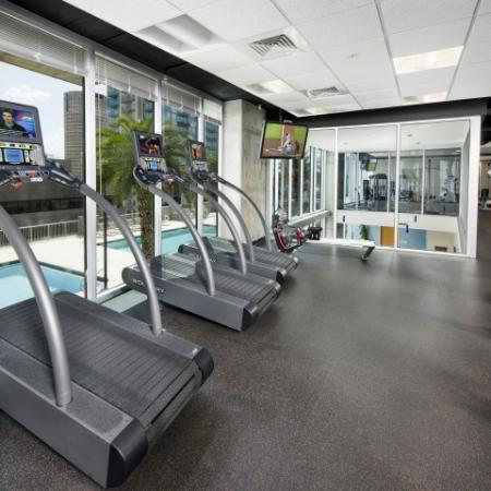 Apartment gym at Element | Tampa FL