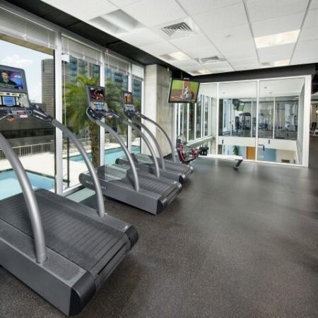 Apartment gym at Element   Tampa FL