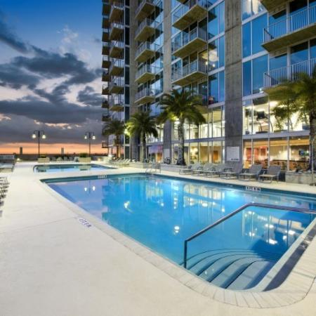 Element apartments   roof top pool