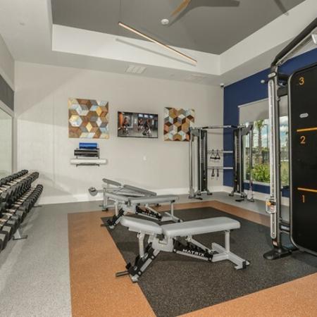 Echo Lake apartment gym