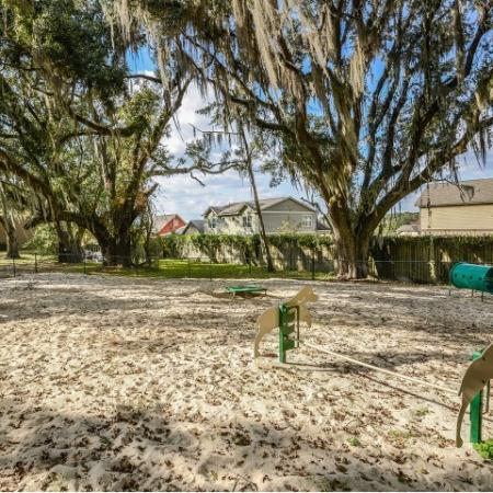 Dog park with agility equipment | Mission Grove rentals