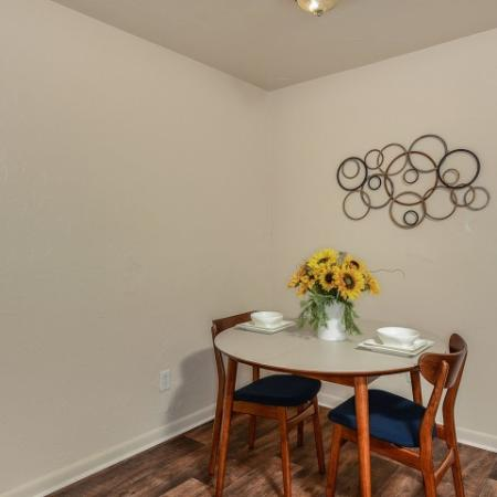Dining room | renovated apartment | Mission Grove