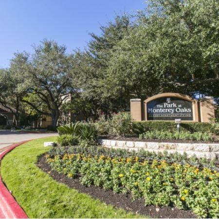 The Park at Monterey Oaks entrance | Austin TX apartments