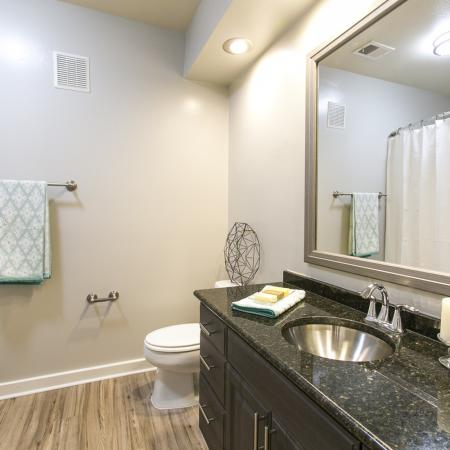 master bathroom in 1 bedroom apartment | The Park at Monterey oaks