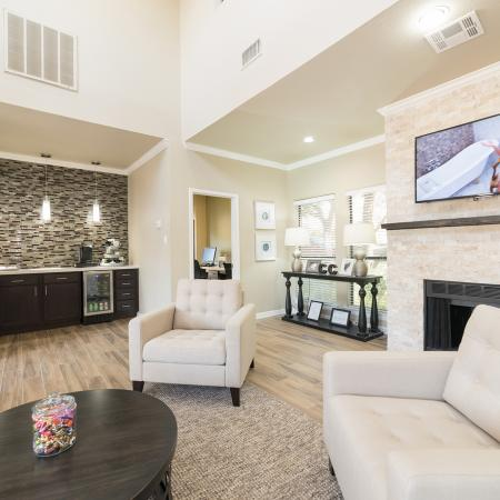 Canyon Creek apartment leasing center interior