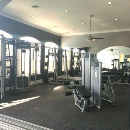 Apartment gym with fitness center