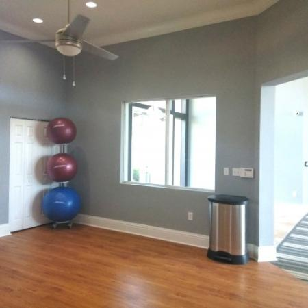 Stretching room with bosu balls | Royal St George apartment gym