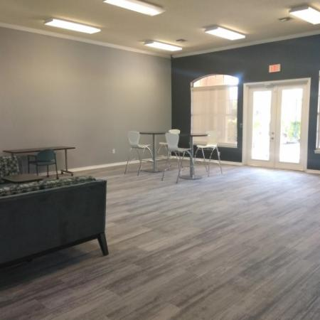 Sofas in Royal St George cyber cafe | West palm beach apartment complex