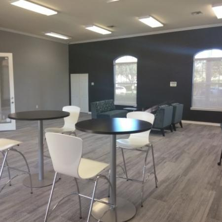 Apartment cyber cafe tables and chairs | West Palm Beach apartment