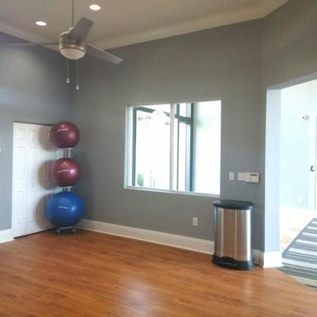 Stretch room in apartment fitness center