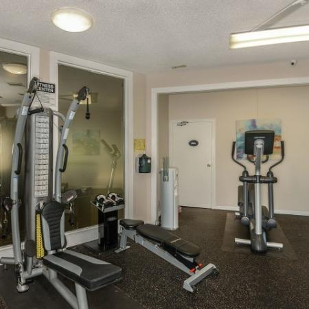 Fitness center at Lakeside at Greenboro