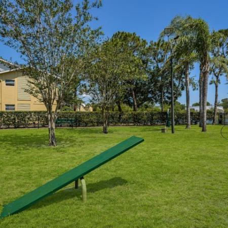 Dog park at pet friendly Melbourne apartment community