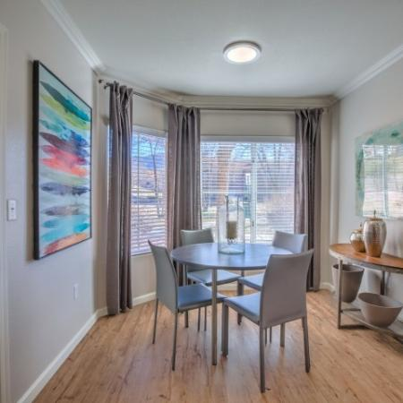 Albuquerque apartment dining room with hardwood floors