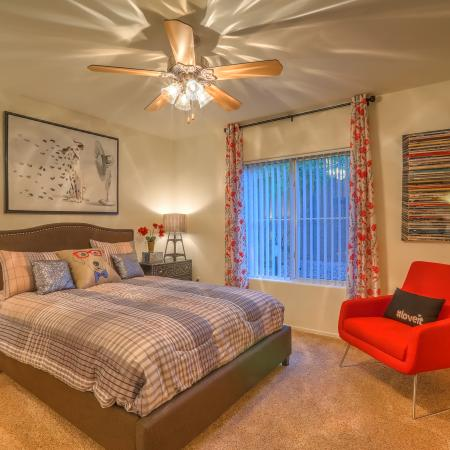Bedroom in Altezza apartment homes | New Mexico home rental
