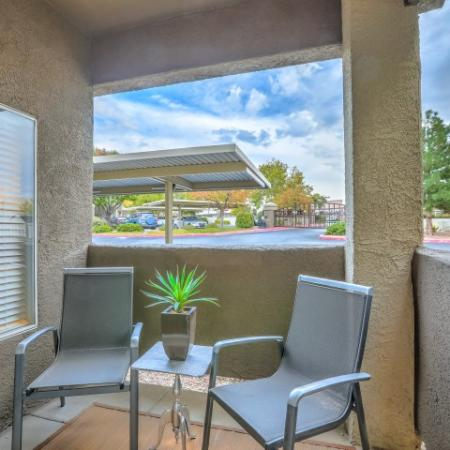 private patio | Arterra apartments in Albuquerque NM