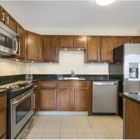 Hartford CT penthouse apartment kitchen