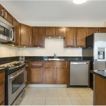 Hartford CT penthouse apartment kitchen