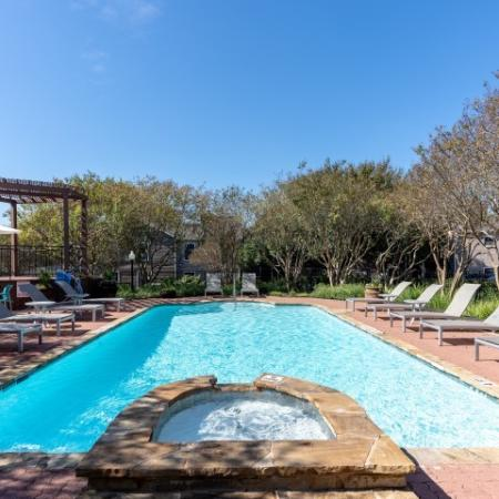 Pool at Austin apartment community | Canyon Creek