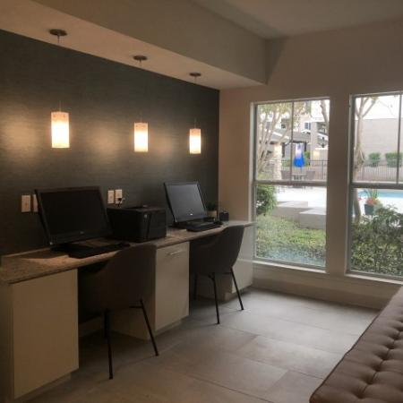 Business center with wifi in apartment community | Austin TX