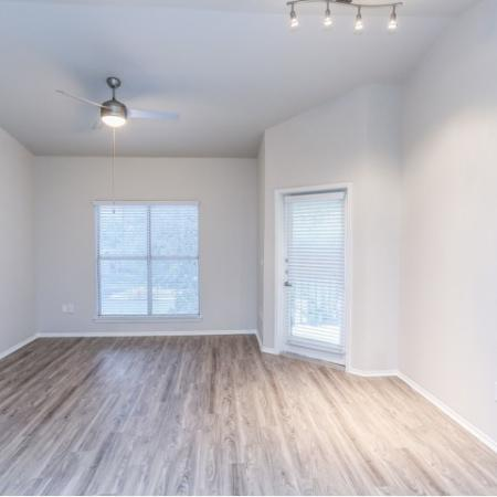 Renovated dining room with new flooring and lighting | Northland at Arboretum