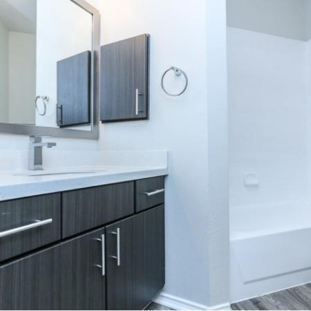 Renovated apartment bathroom | Northland at the Arboretum