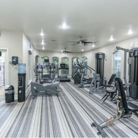 Fitness center with cardioweight equipment