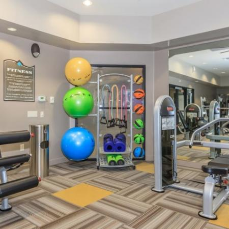 Apartment gym | cardio and weight equipment | Oro Valley apartment complex