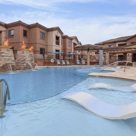 Resort style pool at Canyons at Linda Vista Trail | Oro Valley apartment homes