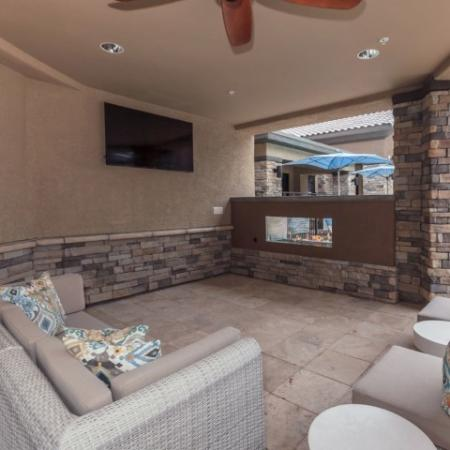 Poolside lounge | The Canyons at Linda Vista Trail