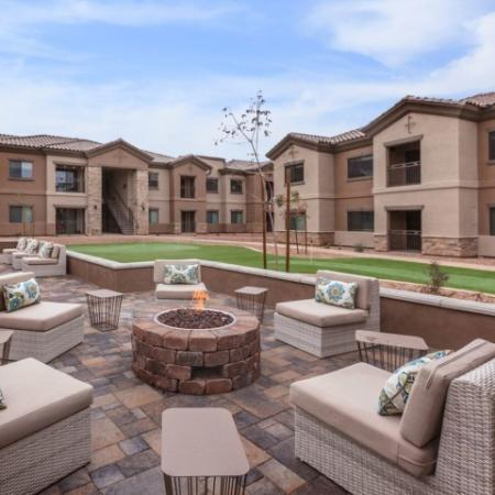 Fire pit and lounge community area | Oro Valley apartments