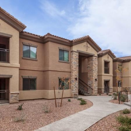 Exterior of Canyons at Linda Vista Trail apartments in Oro Valley