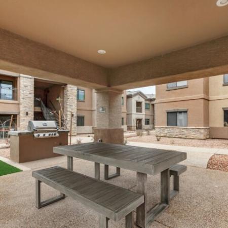 Picnic tables | The Canyons at Linda Vista Trail apartment rentals