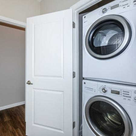 In-home laundry at Canyons at Linda Vista trail apartments in Oro Valley