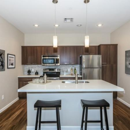 High end kitchen with center island | The Canyons at Linda Vista Trail