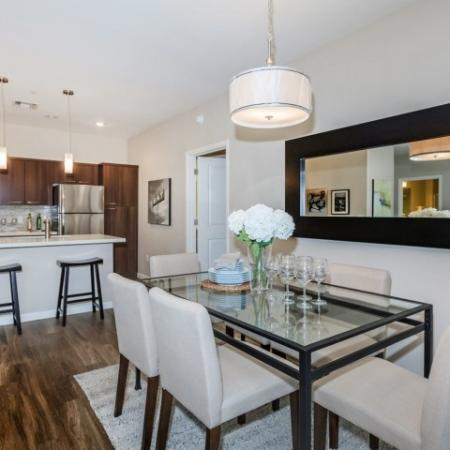 Living room in 2 bedroom floor plan | The Canyons at Linda Vista Trail apartments