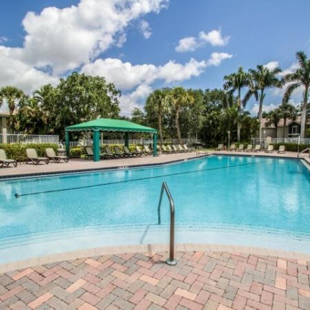 Community pool and sundeck at Gateway Club in Boynton Beach FL