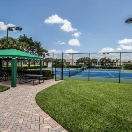 Tennis courts and covered picnic area