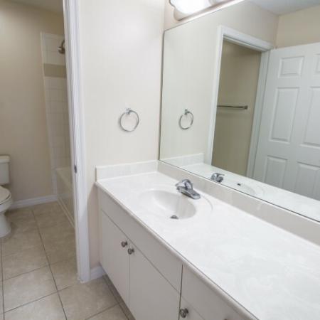 Bathroom with large vanity | Gateway Club