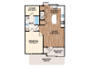 The Prato welcomes you to your open concept floorplan.  The kitchen features a large island perfect for dinner prep and seating.  Off the kitchen is a large living room that opens to your private balcony.  The bedroom includes private acces