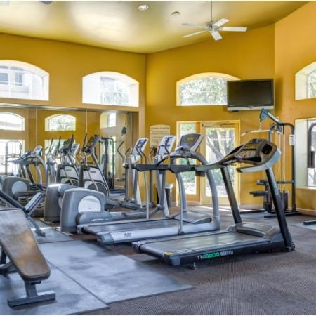 Fitness center with cardio equipment | Links at High Resort